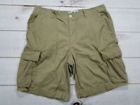 Liberated &  Free Mens Brown Casual Hiking Camping Cargo Shorts Size 36