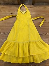Beautiful Girls' Marks and Spencer Yellow Gypsy Smock Summer Dress Age 6 Years