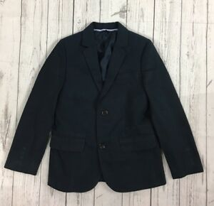 NWT Boy's J. Crew Crewcuts Navy Vintage Cotton Ludlow Blazer Suit Jacket-Size 7