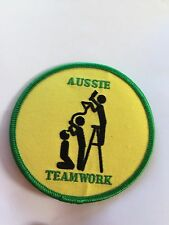 Aussie Teamwork Funny Humour beer bong mateship Patch Badge.Free Post !