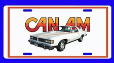 New 1977 Pontiac Can AM License Plate