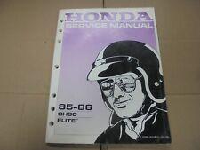 1985 1986 Honda Elite CH80 OEM Honda Owners Service Manual