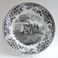 Assiette Faïence fine de Creil - Décor imprimé - 1830 - 2/3