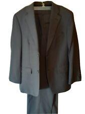 Haggar Black Label Men's 2 Piece Gray Suit 40S Coat  34x30 Pants !
