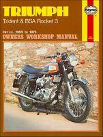 Triumph Trident T150, BSA Rocket III Repair Manual 1969-1975