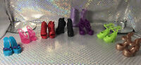 Monster High Doll Shoes Lot Boots Heels Shoes Lot Of 7 Pairs Red Purple Great !