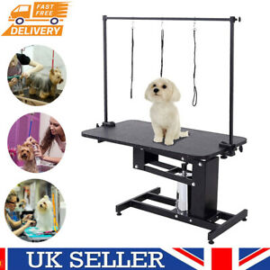 Extra Large Heavy Duty Hydraulic Pet Dog Cat Grooming Table Lift with Arm Leash