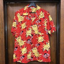 "New listing Vintage 1950'S ""Malihini� Tiki Floral Cotton Hawaiian Rockabilly Shirt - Large"