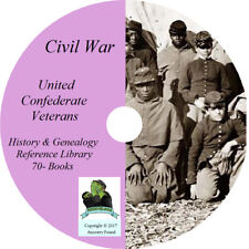 UNITED CONFEDERATE VETERANS - History & Genealogy - Civil War 70 Books on DVD CD