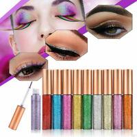 10Color Eyeshadow Liquid Waterproof Glitter Eyeliner Shimmer Makeup Cosmetic Set