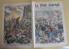 Le petit journal 1905 N° 775 Tremblement de terre Calabre Bakou troupes russes