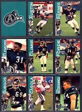 1995 REL CFL FOOTBALL 19 CARD TORONTO ARGONAUTS TEM SET MIKE CLEMONS KENT AUSTIN