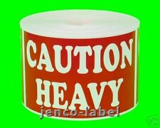 ML23121, 500 2x3 Caution Heavy Labels/Stickers