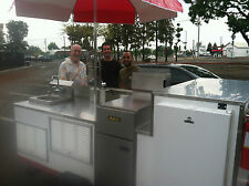 mobile food cart, portable food cart, deep fryer cart, catering