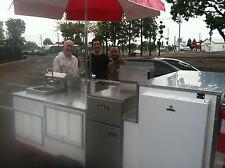 mobile food cart, portable food cart, deep fryer cart, catering