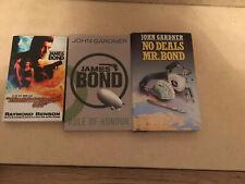 James Bond Books By John Gardener, Raymond Benson X3