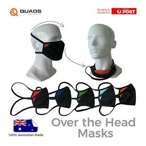 Over the Head reusable face mask with comfort straps – made in Australia