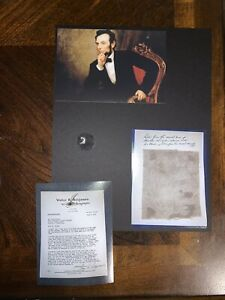 Abraham Lincoln Blood Stained Deathbed fabric Relic Piece President