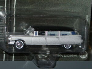 JOHNNY LIGHTNING 1959 59 CADILLAC HEARSE HOBBY EXCLUSIVE -Silver/Black, MIP
