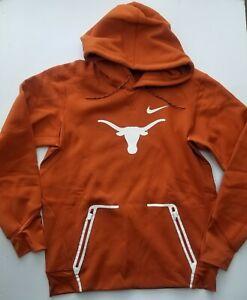 Nike Texas Longhorns Therma Pullover Pockets Hoodie Orange 33529X-TX1 Men's Sz M