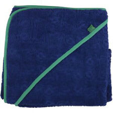 Green Cotton  Badetuch Kapuzenbadetuch Gr. 100 x 100 cm Frottee dunkelblau/grün