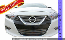 GTG Polished 5PC Overlay Billet Grille Grill Kit fits 2016 2017 Nissan Maxima