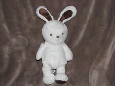 RARE HTF Carters Just One Year You White Brown Plush Bunny Rabbit Baby Toy Beans