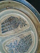 Vintage Royal Copenhagen studio pottery stoneware plate 10.25 in, Jorg Mogensen