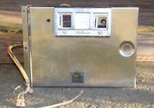 WILLIAM'S ORIGINAL 1970's CHROME PINBALL MACHINE COIN DOOR-w/wiring Harness +