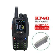 NEW QYT KT-8R with 3200mAh battery Quad Band radio 5W 144/430mhz UV transceiver