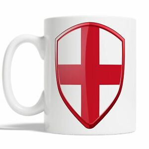 English Flag Mug Coffee Cup Gift Idea England Rugby Sports 6 Nations Badge JA117
