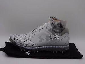 Under Armour Tempo Tour Golf Shoes 1270205-101,White,Men's 8