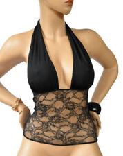 Damenblusen, - tops & -shirts ohne Kragen für M Spitze