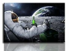 "Large Wall Art Canvas Picture Relax Beer Space Earth Framed 20""x30"""