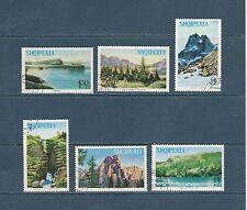 Albanie  paysages de 1965   num: 752/57  oblitérés