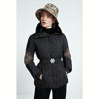 Giaccone Desigual donna giubbotto imbottito piumino nero giacca padded 19WWEW14
