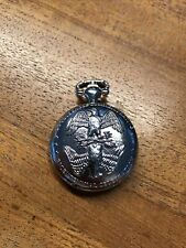 POCKET WATCH NO.36 SILVER COLOURED  HUNTER,DOUBLE EAGLE DESIGN