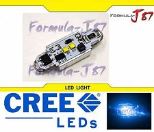 CREE LED Canbus Error Free Loop 36mm 6W Blue 10000K One Bulb Replacement Light