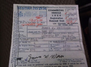 1930 Model A Ford Pickup NEW YORK 1954 Historical Document Paperwork