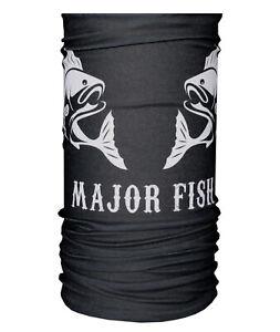 Major Fish Faceshield UV Multifunctional Scarf Bandana Mask Fishing Face Mask