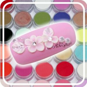 Coloured Professional Acrylic Powder Builder / Nail Art Polymer Clear White Pink