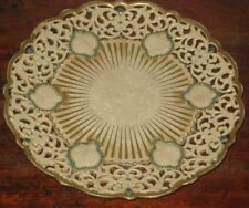 ZSOLNAY PECS PIERCED PLATE EASTERN STYLE CIR LATE 19TH CENTURY
