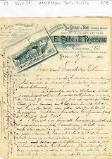 Dépt 37- Tours Rue Champoiseau - Belle Entête dans le Secteur du Bois 11/06/1900