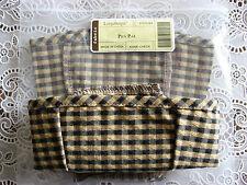 Longaberger Khaki Check Pen Pal / Pencil Basket Liner/Brand New In Original Bag