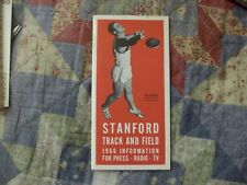 1966 STANFORD TRACK AND FIELD MEDIA GUIDE Yearbook Press Book Program College AD