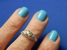 .76ct Round Lime Green Garnet Sterling Silver Ring Free Sizing
