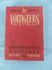 Ancien paquet 5 cigares VOLTIGEURS EXTRA vide SEITA régie Française 30 Frs WW2