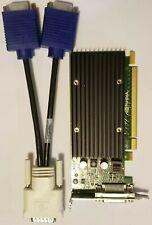 Dual Monitor VGA or DVI Nvidia Quadro NVS 300 Low Profile Video Graphics Card