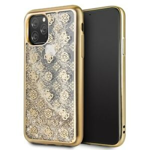 iPhone 11 Pro HandyHülle Guess 4G Peony Glitter Hard Cover Gold