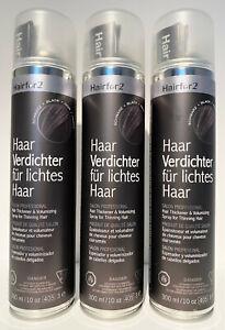 Trio zum Sonderpreis ! Hairfor2 Haarverdichter - 3 x 300ml schwarz